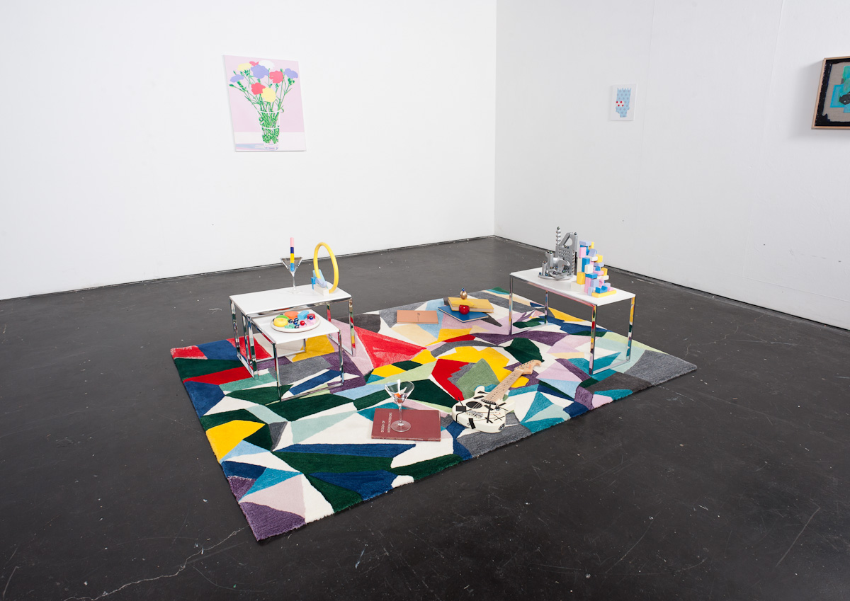 Madeline Kidd and Masato Takasaka Living room Arrangement, 2013 Mixed media, dimensions variable Installation view, Margaret Lawrence Gallery, Melbourne Photo Credits: Jake Walker